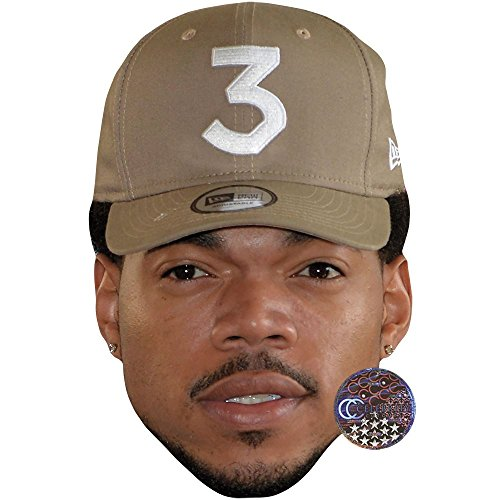 Celebrity Cutouts Chance The Rapper Maske aus Karton