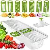 Zekpro Mandoline Slicer, Vegetable Chopper with 8 Interchangeable Blades, Vegetable Slicer, Cutter, Shredder, Veggie Slicers for Fruits with Container