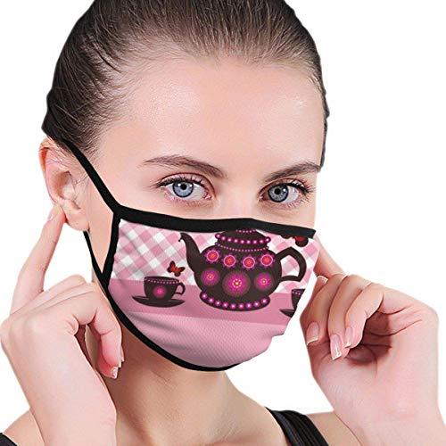 Maskers theepot en theekopjes grappig gezichtsmasker gezichtsmasker halfgezichtsmasker mondmasker met oorbeschermers winddicht masker