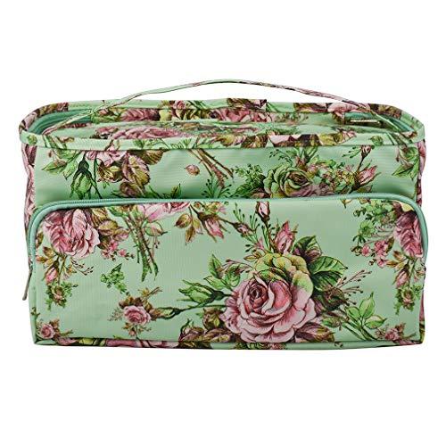 Yesiidor Tragbare Pfingstrosen-Quadrat-Tasche mit wiederverwendbarem Make-up-Beutel mit Reißverschluss Reisetasche Reisetasche