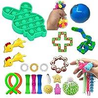 Fidget Toys ストレス解消 感覚フィジェット おもちゃ 24個パック 大人子供用 フィジェット感覚おもちゃ バンドルとスクイーズウィジェット リラックスセラピー 不安解消 自閉症 ADHDギフトに最適