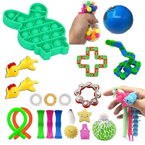 ZHIYA Fidget Juego De Juguetes Sensoriales De 24 Piezas para Aliviar El Estrés para Niños Y Adultos Reliable
