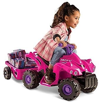 Huffy Kids Electric Ride On Car Mini Quad Hot Pink
