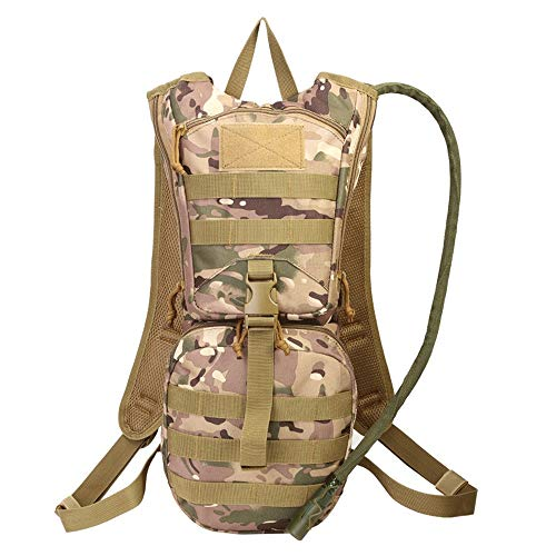 JTRHD Hydration Pack Backpacks 43L High Capacity Waterproof Riding Bag Backpack Camping Moisturizing Bag Breathable Lightweight (Color : Khaki, Size : 22 * 50 * 8cm)