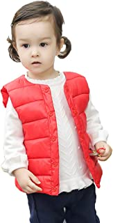 Toddler Baby Girls Boys Sleeveless Coat Winter Solid Striped Vest Warm Waistcoat Outwear Coat Clothes