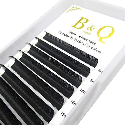 Extensión de pestañas Espesor 0.03mm D Curl 8-15mm Bandeja mixta pestañas pelo a pelo 0.05/0.07/0.10/0.15/0.20 Longitud 8-15mm