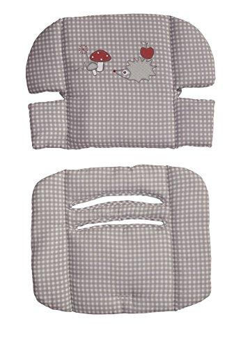 roba Sitzverkleinerer, Hochstuhleinlage 'Adam & Eule', Baby Sitzkissen für roba Treppenhochstuhl 'Move'