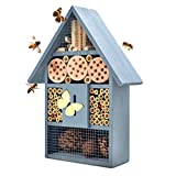 NATURAIS Wooden Insects Hotel Bee House Butterfly House Natural Materials Hotel for Garden