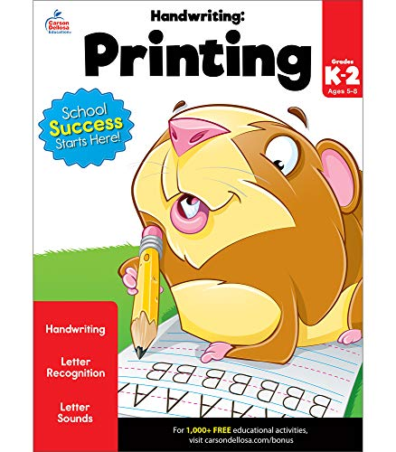 Compare Textbook Prices for Carson Dellosa Handwriting: Printing Workbook―Kindergarten-2nd Grade Writing Practice, Letter Tracing and Sounds, Word and Sentence Formation 80 pgs Brighter Child: Grades K-2 Workbook Edition ISBN 9781483816425 by Brighter Child,Carson-Dellosa Publishing