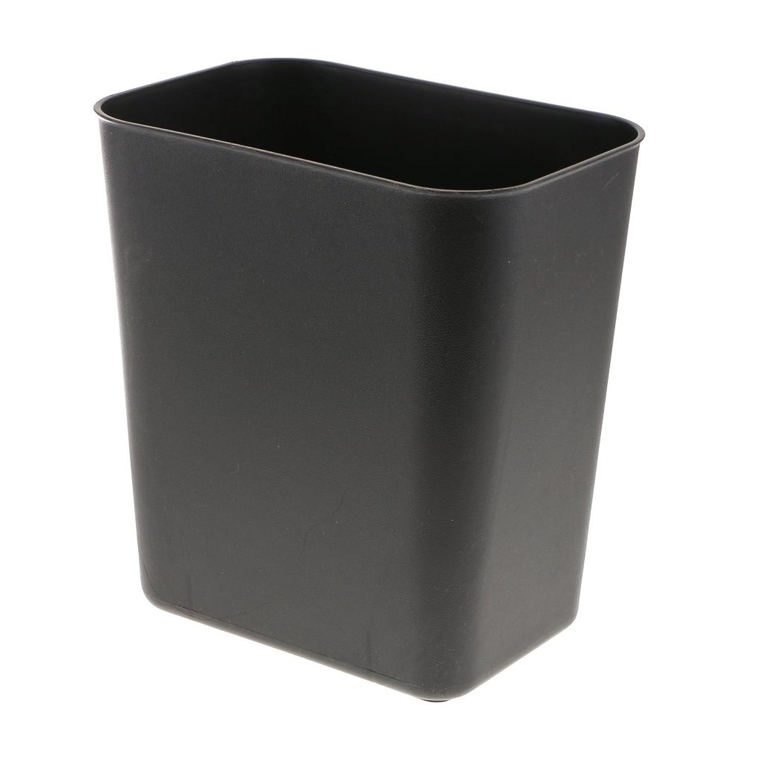 データ物語パネル8l四角いプラスチックゴミゴミ箱バスルームキッチンペーパーバスケットグレー - ブラック