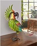 bb10 Schmuck Gartenfigur aus Metall Papagei Perry 44 cm groß