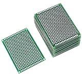 Augiimor - 20 circuiti PCB a doppia faccia prototipazione PCB, 5 x 7 cm, universale circuito PCB su due lati prototipi per progetti elettronici di saldatura fai da te