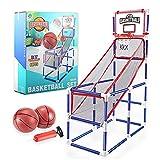 Arcade - Canasta de baloncesto con 2 pelotas y bomba, uso en interiores y exteriores, fácil de montar, 47 x 92 x 140 cm, para niños