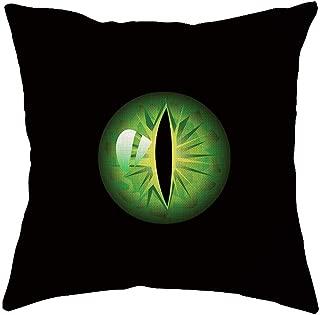 Throw Pillow Case, Halloween Home Decoration, Jessie storee Cat's Eye Flax Throw Pillowcase Cushion Cover for Room Bedroom Sofa Chair Car, 18 x 18 inch, 45 x 45 cm,