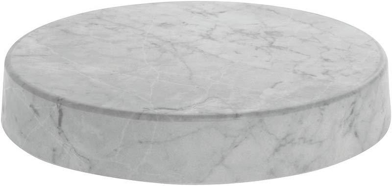 Round Marble Look Display Riser White 12 Dia X 2 H