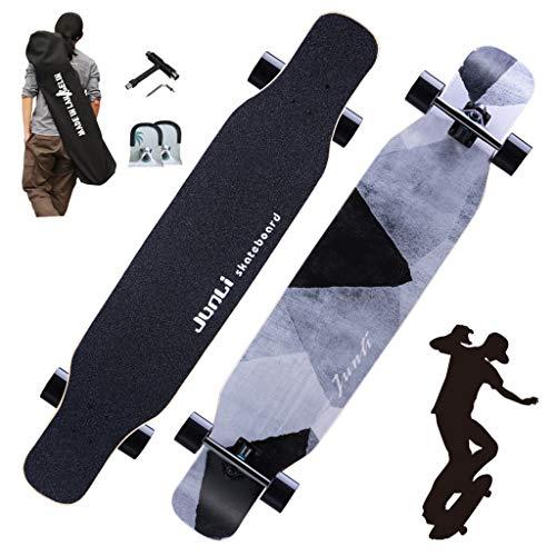 HLYT-Barhocker 46,5-Zoll-Skateboard für Anfänger Erwachsene Fallen durch Freestyle Brush Street Dancing Longboard Allround-Profi Double Rocker