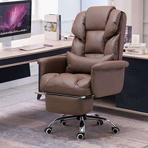 HQBL Sofá Ergonómico Boss Chair, Sillas Giratorias Ejecutivas para Computadora, Asiento de Oficina En Casa Ajustable E Inclinable con Soporte Lumbar,para Adultos/Jóvenes/Estudiantes