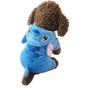 Dupet Costume de Noël Pet Vêtements pour chien chat chiot Capuche Manteau d'hiver Autunm Sweat chaud Pull pour petits chiens de grande taille