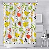Duschvorhang Obst Polyester Fabric Anti-Schimmel Duschvorhang Wasserdicht Anti-Schimmel Mit 12 Haken Ür Badewanne Und Dusche Schmaler 100 X 180 cm