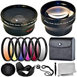 Ultimaxx 58MM Complete Lens Filter Accessory Kit with 58MM 2.2X Telephoto and .43x Wide Angle/Macro Lenses for: Canon EOS Rebel 9000D 800D 760D 750D 700D 1300D 1200D and More