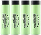 Kally [Hecho en Japón 3 7V NCR18650 3400mAh baterías 18650 batería Recargable de Litio Recargable batería Recargable-4 Piezas