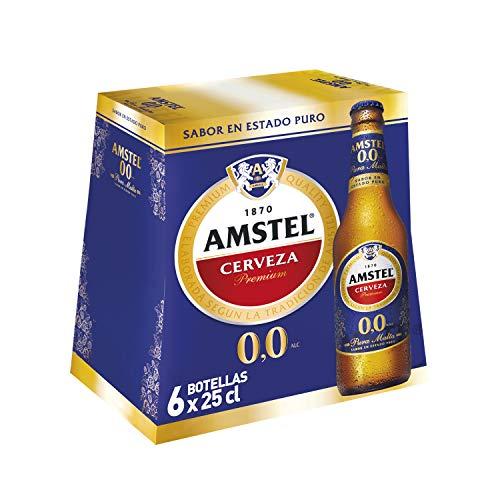 Amstel Cerveza 0,0 Alc, Pack de 6 x 25cl