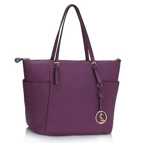 c8dc43b1 LeahWard® Ladies Fashion Desinger Quality Tote Bags Women's Trendy  Hotselling Handbags Large Size Shoulder Bags