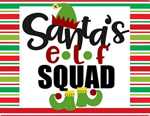 7x9 Santas Elf Squad, Metal Wreath Sign, Christmas Sign, Elf Sign, Christmas decor