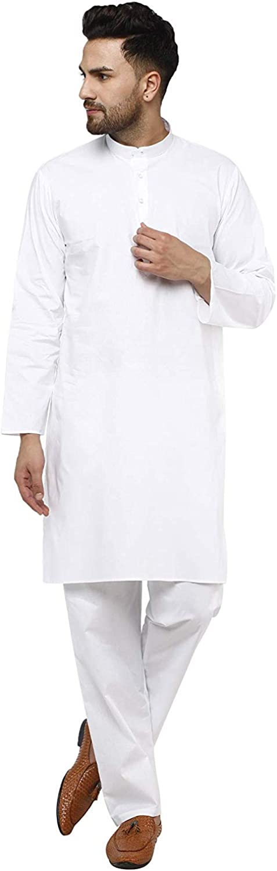 SKAVIJ Men's Tunic Cotton Kurta Indian Limited price sale Pajama Dress Casual Sale price Yoga