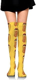 Knee High Socks Beard Hot Dog Women's Work Athletic Over Thigh High Long Stockings