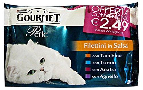 PURINA Set 12 Filettini X 4 Avec Agneau Au Canard Et Au Thon V.P.2,49 Nourriture Pour chats