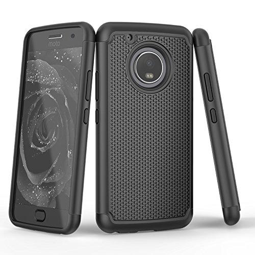 Moto G5 Plus Case, Moto G 5th Gen Plus Case, TILL(TM) [Turquoise] [Shock Absorption] Dual Layer TPU + Plastic Scratch Resistant Hybrid Armor Defender Protective Case Cover for Motorola Moto G5 Plus
