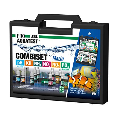 JBL Wassertest-Koffer, Mit 6 Tests, Für Meerwasser-Aquarien, ProAquaTest Combi Set Marin