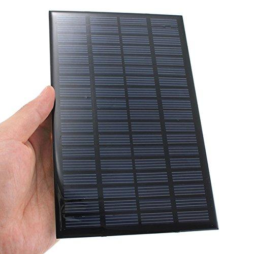 Bluelover 18V 2.5W Polykristallines Mini-Sonnenkollektor Photovoltaik-Panel