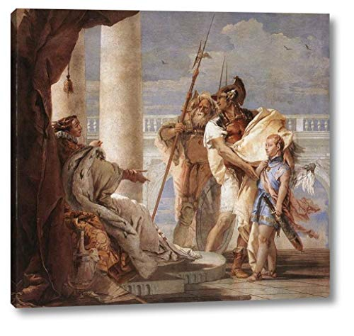 "Aeneas Introducing Cupid Dressed as Ascanius to Dido by Giovanni Battista Tiepolo - 11"" x 12"" Gallery Wrap Canvas Art Print - Ready to Hang"