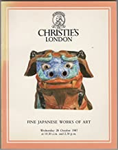 Fine Japanese Works of Art. Japanese Inro, Lacquer, Ceramics, Cloisonne Enamel, Shibayama, Bronzes, Okimono, Prints, Paintings, Illustrated Books, Screens, Swords and Sword Fittings. 28 October, 1987.