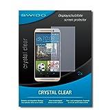 SWIDO Schutzfolie für HTC One M9s [2 Stück] Kristall-Klar, Hoher Festigkeitgrad, Schutz vor Öl, Staub & Kratzer/Glasfolie, Bildschirmschutz, Bildschirmschutzfolie, Panzerglas-Folie
