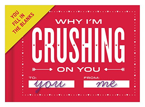 Knock Knock Why I'm Crushing on You Fill in the Love Book Fill-in-the-Blank Gift Journal, 4.5 x 3.25-inches