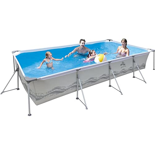 JILONG JL017442NG - Piscina (Piscina con anillo hinchable, Rectangular, 6075 L, PVC