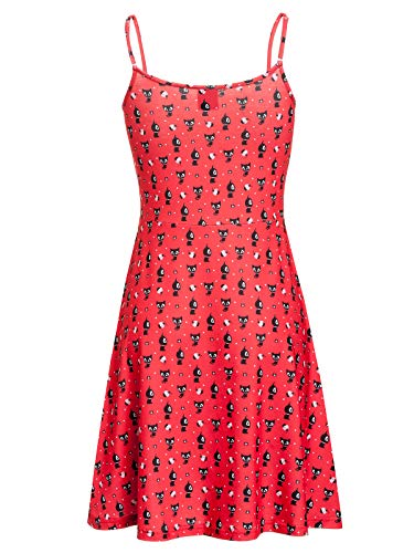 Pussy Deluxe Kitty Cupcake Love Dress red Allover, Größe:M
