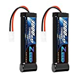 Zeee 8.4V 3000mAh RC Battery High Power NiMH Battery with Tamiya Plug for RC Car Traxxas LOSI Associated HPI Tamiya Kyosho(2 Pack)