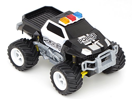 RC Auto kaufen Monstertruck Bild: Diawell RC ferngesteuertes Polizei Pick Up Polizeiauto Monstertruck Truck Vollfederung Warnlicht 210 mm Lang*