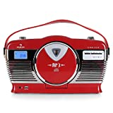 AUNA RCD-70 - Radio VHF, Design rétro, Port USB Compatible MP3, Lecteur CD / MP3 à...
