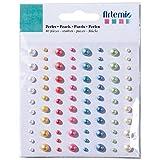 Artemio 80 Piezas con Diamantes de imitación Perlas de Vinilo, Multi-Color