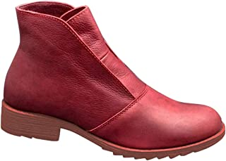 Womens Casual Ankle Boots Rome Slip-On Oversized Arch Support Booties Shoes