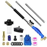 Hydro Jet High Pressure Power Washer Wand with Soap Dispenser and Car Wash Brush,Extendable Jet Car Washer with Universal Hose End,Watering Sprayer for Window Cleaning/Car Washing/Garden Watering