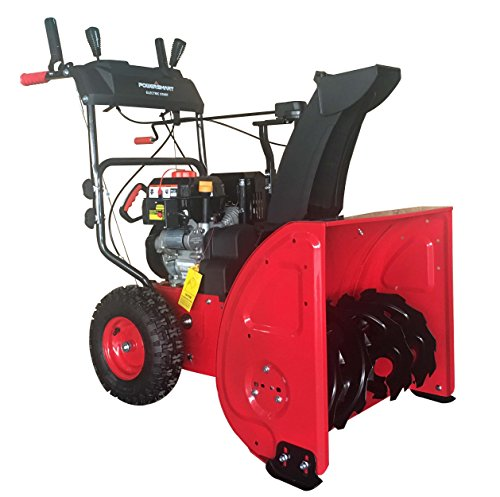 """PowerSmart DB72024PA 2-Stage Gas Snow Blower with Power Assist, 24"""", Black"""