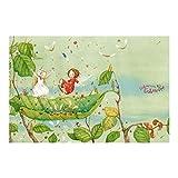 Vliestapete–Fensterbild Erdbeerinchen Erdbeerfee–Trampolin–Wandbild breit