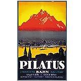 Jhmjqx Schweiz pilatus Tourismus Poster Luzern Classic Wand