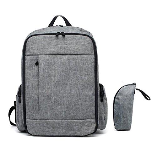 BBWAY extra grote luier veranderen tas rugzak met luier veranderen pad kan worden gebruikt als laptop rugzak Toten Eén maat Grijs